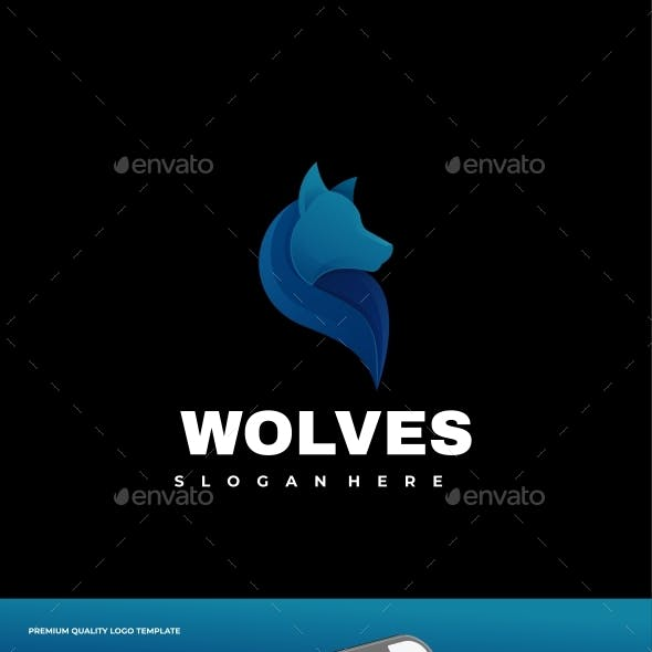 Wolf Gradient Logo Template