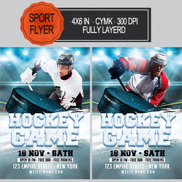Ice Hockey Game Flyer