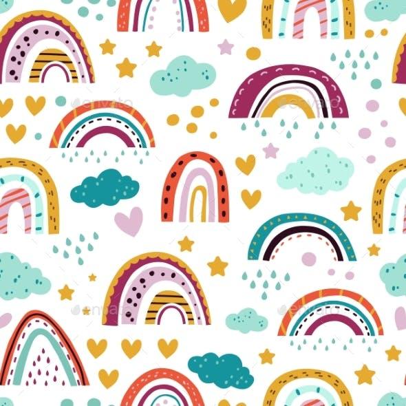 Scandinavian Rainbow Pattern