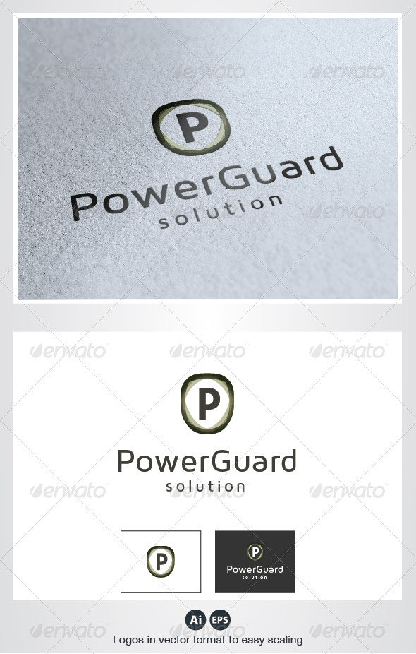 Power Guard P Letter Logo - Letters Logo Templates