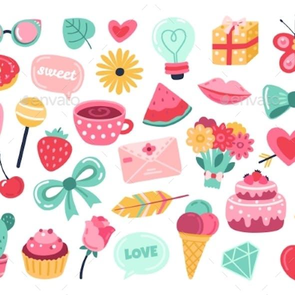 Romantic Planner Stickers
