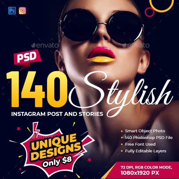 140 Instagram Stories Banner Bundle