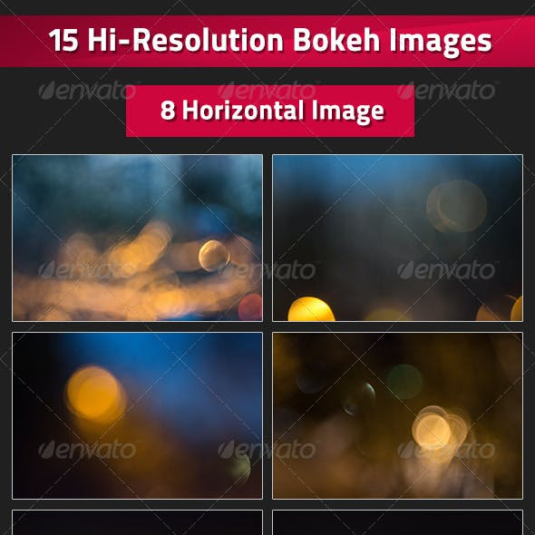 Set of 15 Bokeh Images