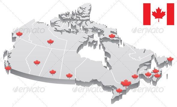 Canada Map - Travel Conceptual