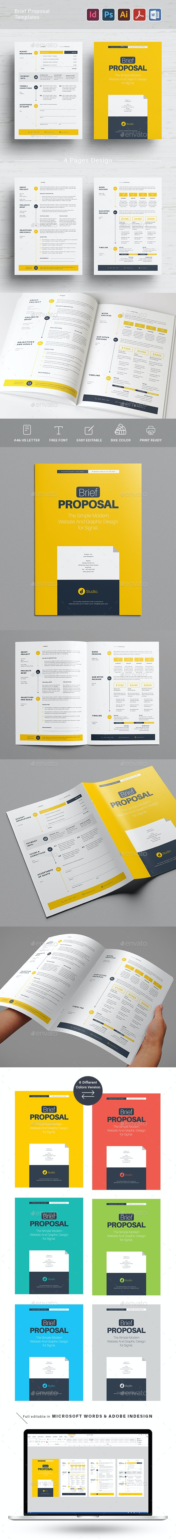 Brief Proposal Templates - Proposals & Invoices Stationery