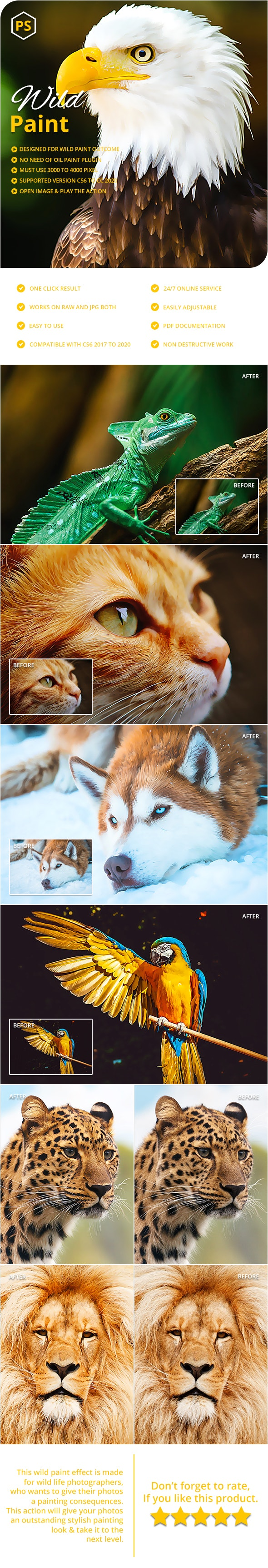 Wild Paint Photoshop Action - Actions Photoshop