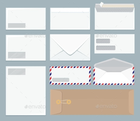 Envelope Template - Objects Vectors