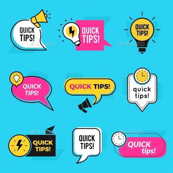 Quick Tips - Web Elements Vectors