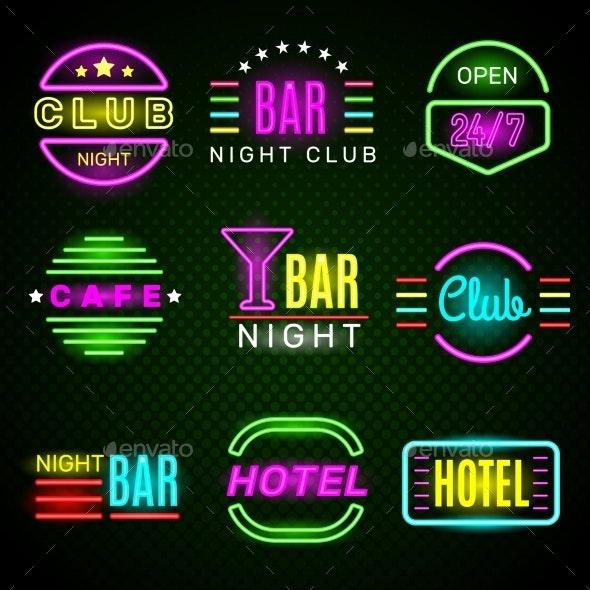 Hotel Neon - Miscellaneous Vectors