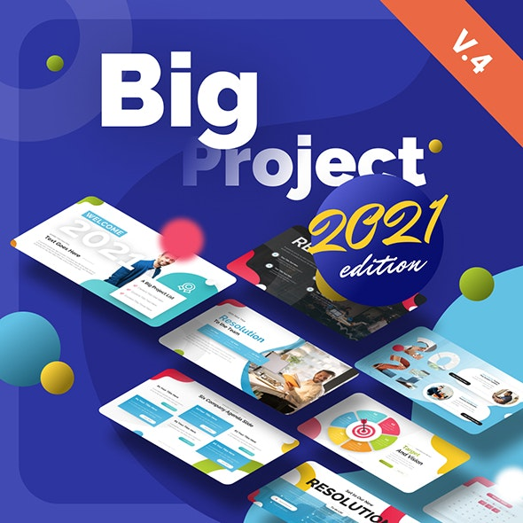 Big Project - Multipurpose Infographic Template - PowerPoint Templates Presentation Templates
