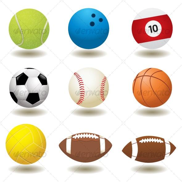 Vector Sport Balls - Sports/Activity Conceptual