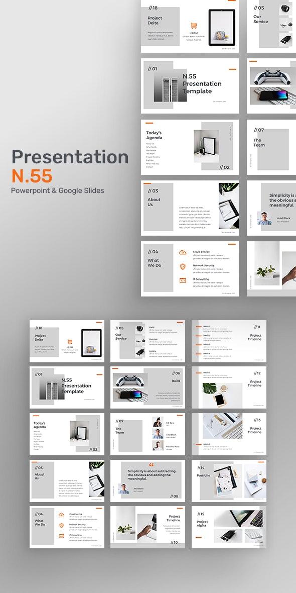 Presentation N55 - Creative PowerPoint Templates