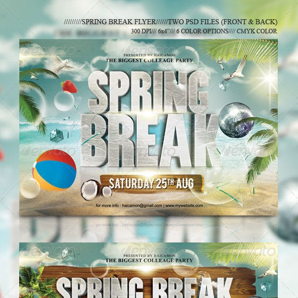 Summer Break Party Flyer Vol_12