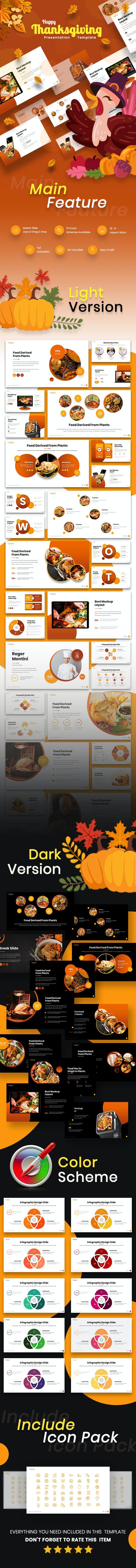 Happy Thanksgiving Keynote Template - Creative Keynote Templates