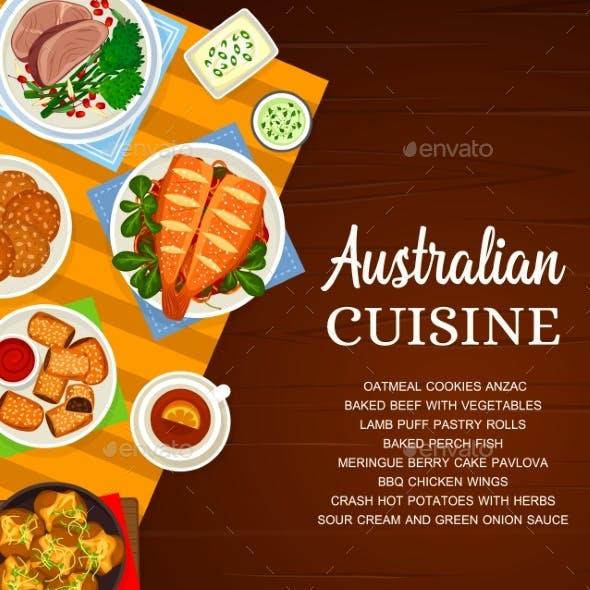 Australian Cuisine Vector Australia Food Poster