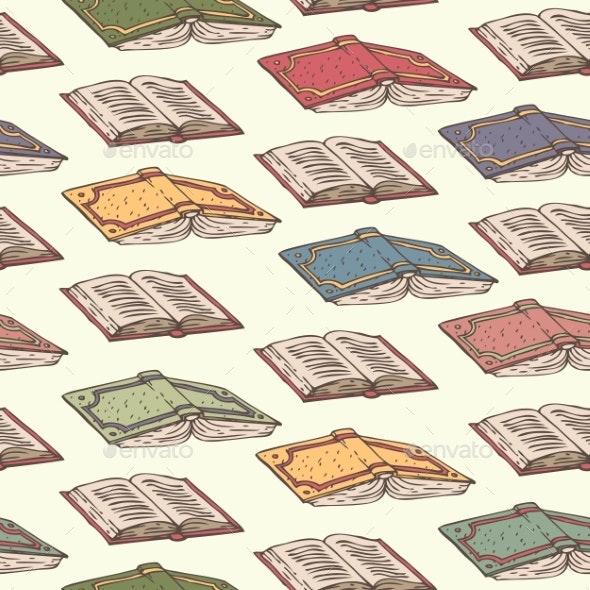 Books Seamless Pattern - Miscellaneous Vectors