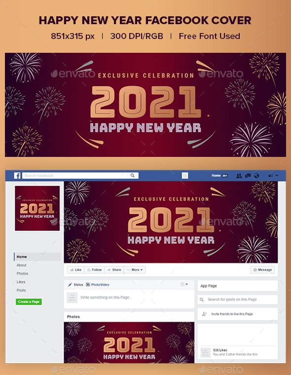 Happy New Year Facebook Cover - Facebook Timeline Covers Social Media