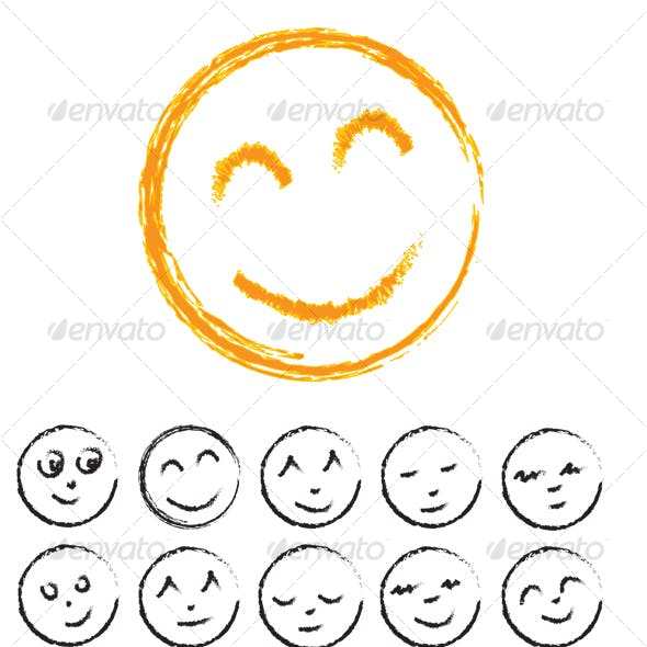 Hand drawn Smiley Faces