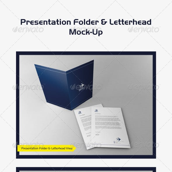 Presentation Folder & Letterhead Mock-Up