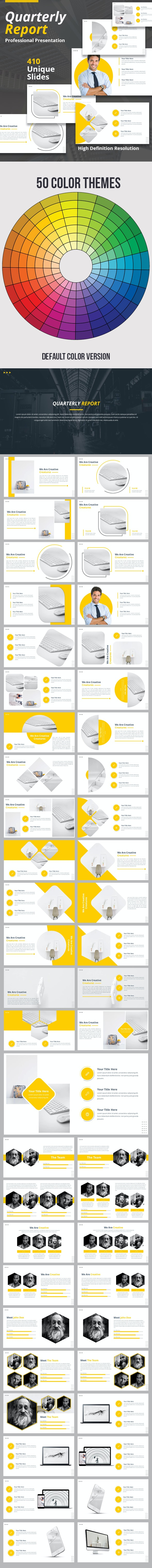 Quarterly Report Keynote Template - Business Keynote Templates