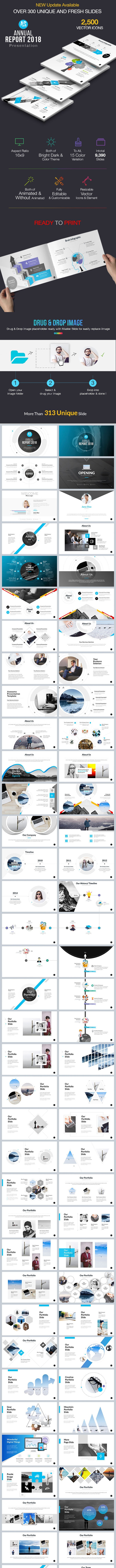 Annual Report Presentation PowerPoint Template - PowerPoint Templates Presentation Templates