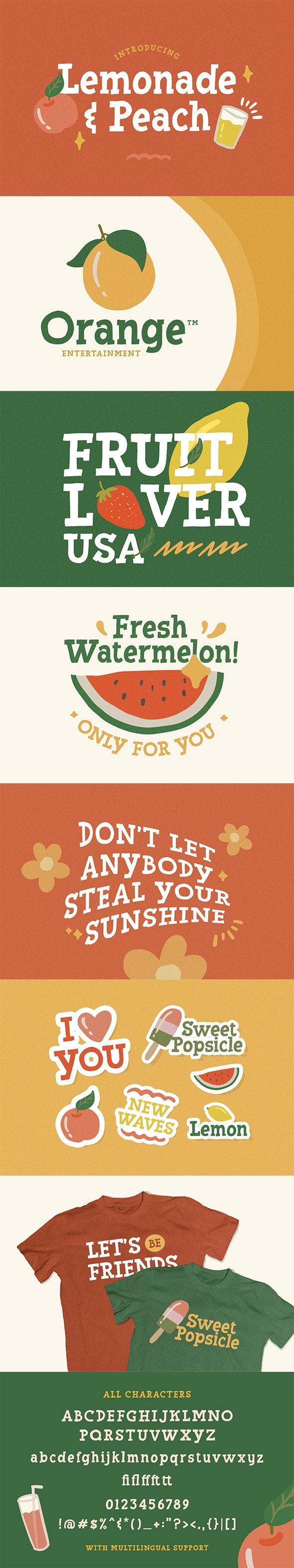 Lemonade and Peach - Display Font - Serif Fonts