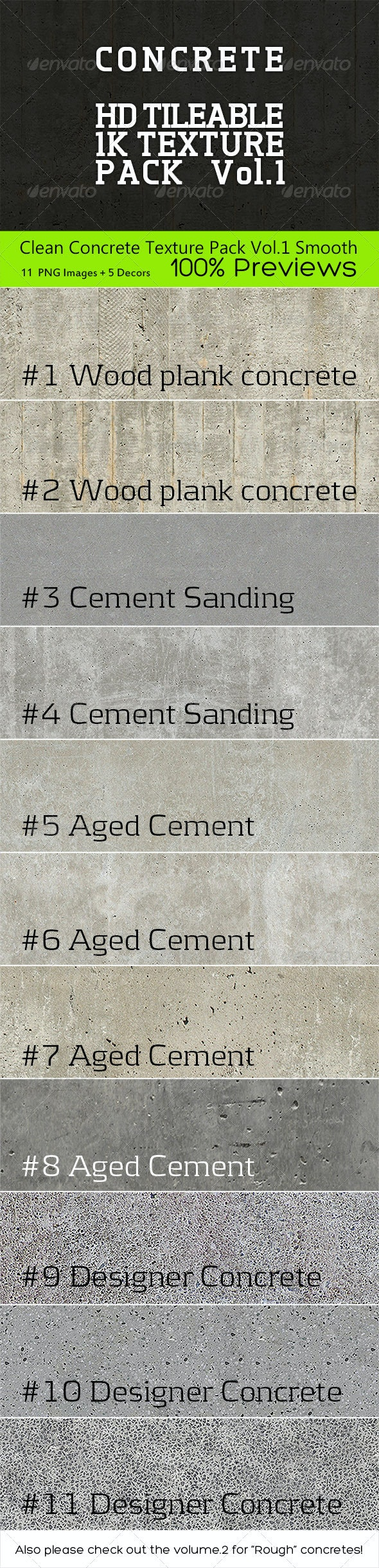 Clean Concrete Texture Pack Vol.1 Smooth - Concrete Textures
