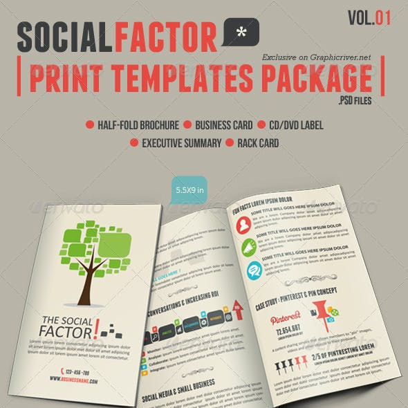 SocialFactor Print Templates Package Vol.01