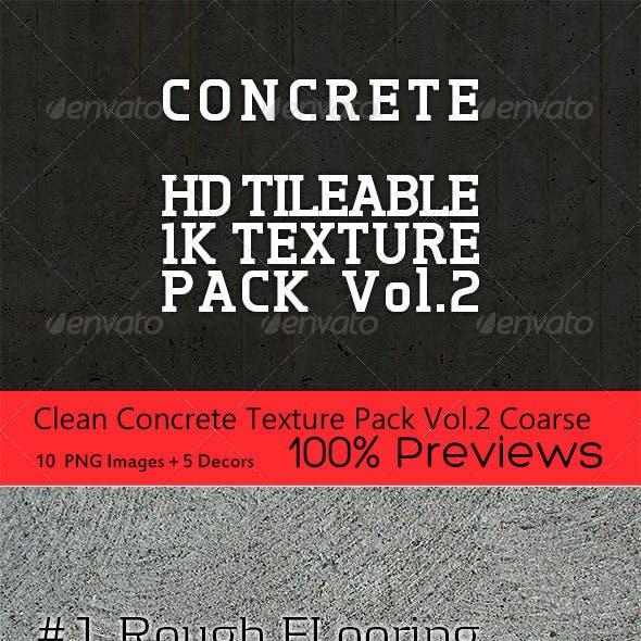 Clean Concrete Texture Pack Vol.2 Coarse