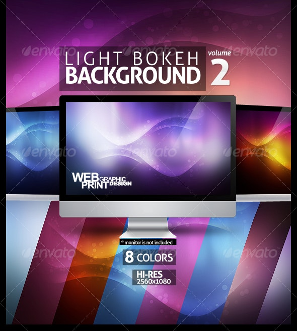 Light Bokeh Abstract Background 2 - Backgrounds Graphics