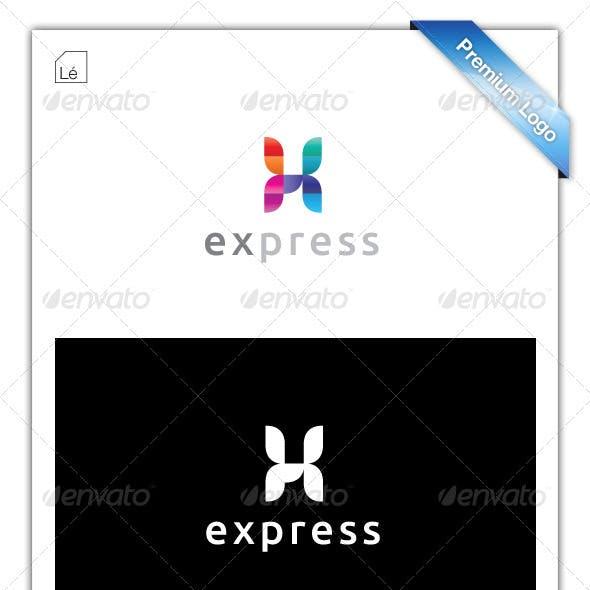 Web Print Logo - Letter X Logo - Technology Logo