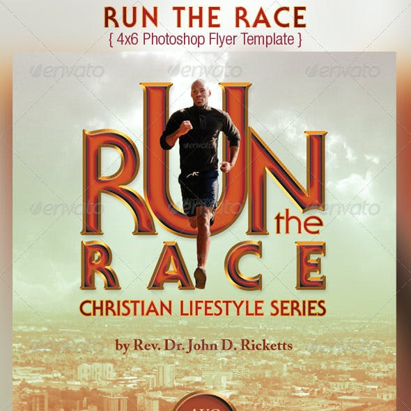 Run Race Church Flyer Template