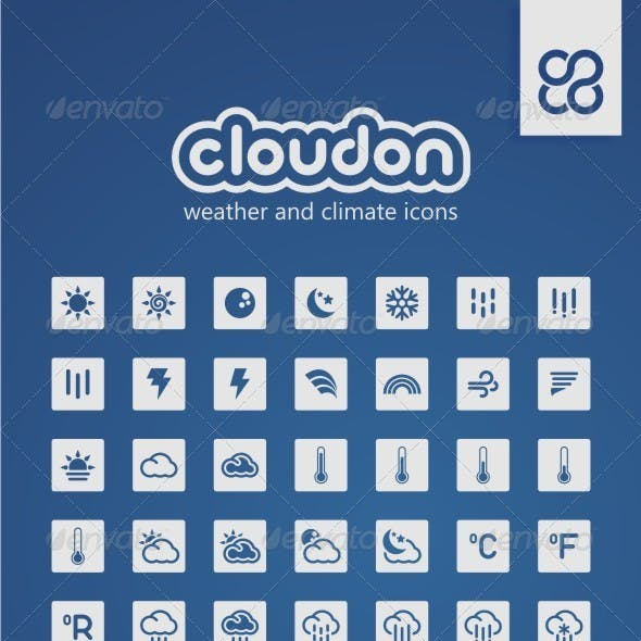 Cloudon: Weather and Climate Icons