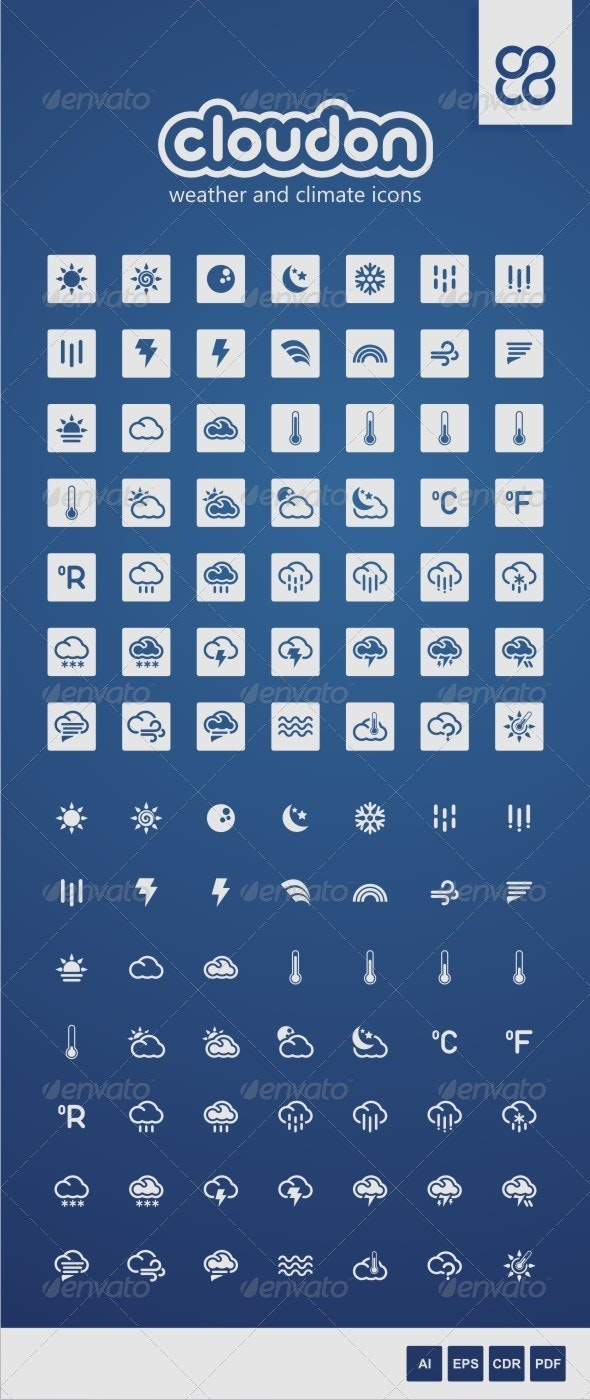 Cloudon: Weather and Climate Icons - Seasonal Icons
