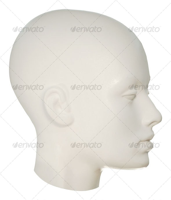 Mannequin Head - Clothes & Accessories Isolated Objects