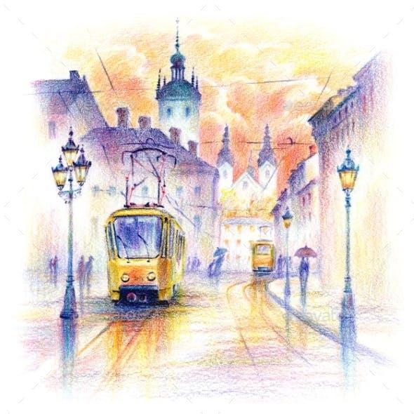 Old Town of Lviv Ukraine