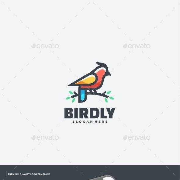 Bird Simple Mascot Logo Template