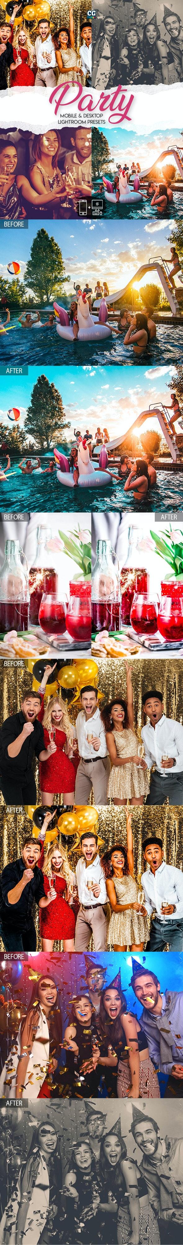 Party - 15 Premium Lightroom Presets - Lightroom Presets Add-ons