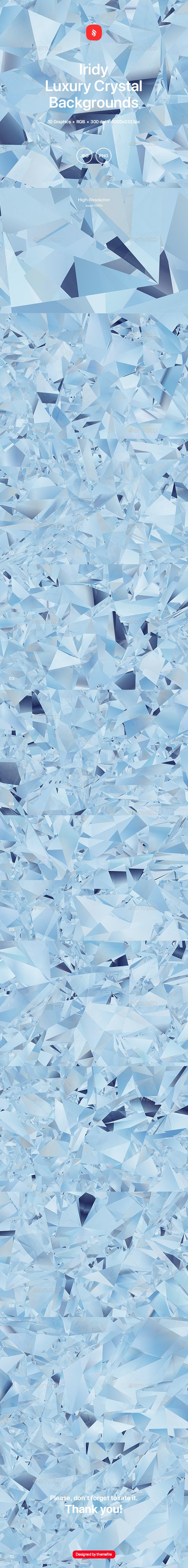 Iridy - Luxury Crystal Backgrounds - Abstract Backgrounds