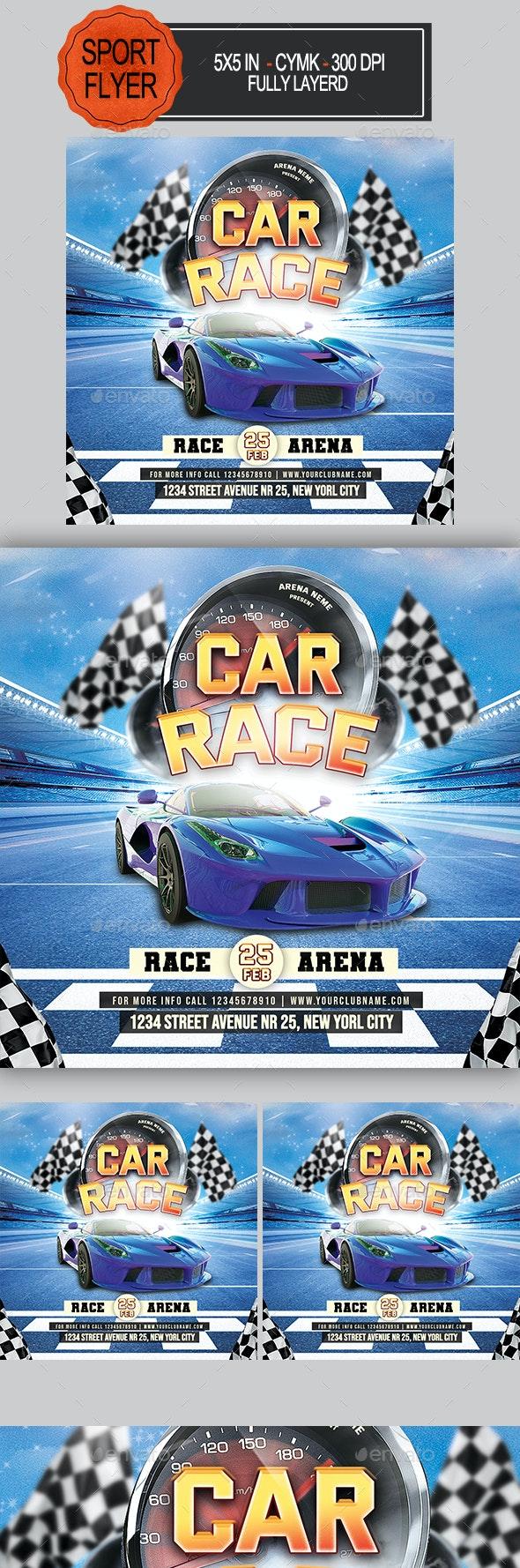 Car Race Flyer - Sports Events