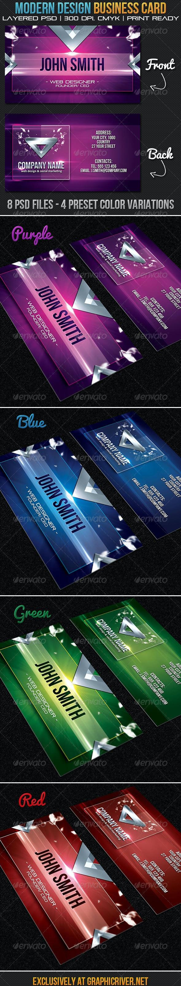 Modern Design Business Card - Creative Business Cards