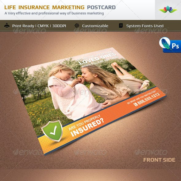 Life Insurance Marketing Postcard
