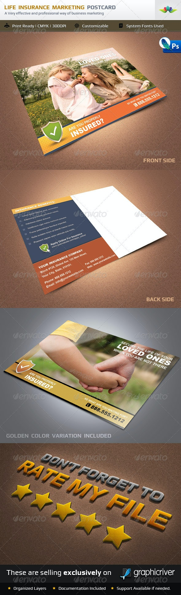 Life Insurance Marketing Postcard - Greeting Cards Cards & Invites