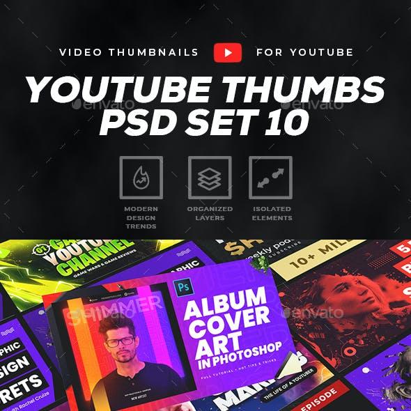 Youtube Thumbnail Template Set 10