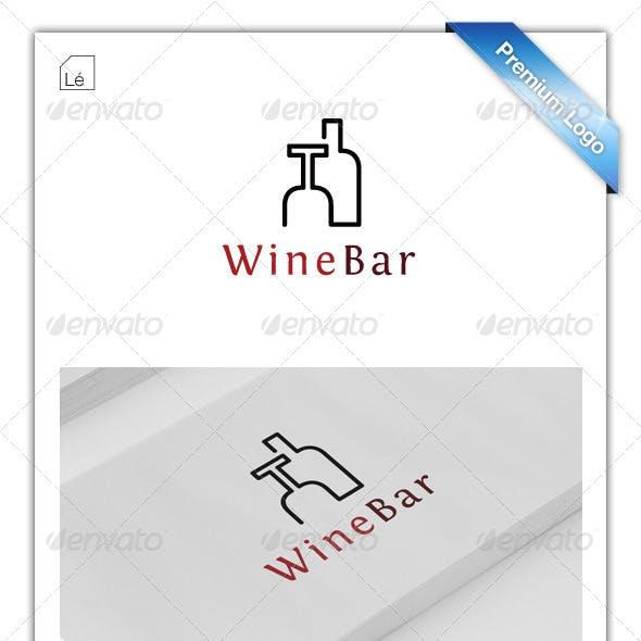 Wine Bar Logo - Restaurant Logo - Cigar Bar Logo