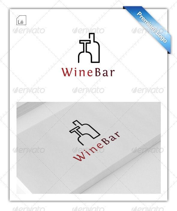 Wine Bar Logo - Restaurant Logo - Cigar Bar Logo - Objects Logo Templates