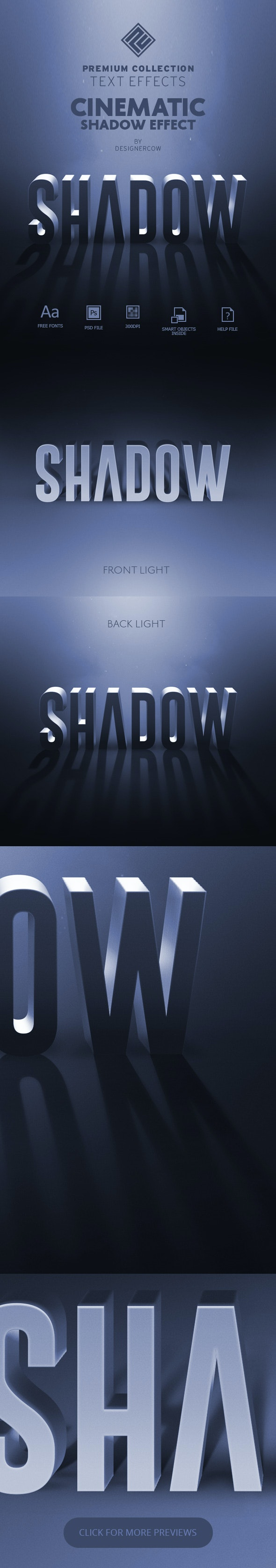Cinematic Shadow Text Effect - Premium Collection - Text Effects Actions