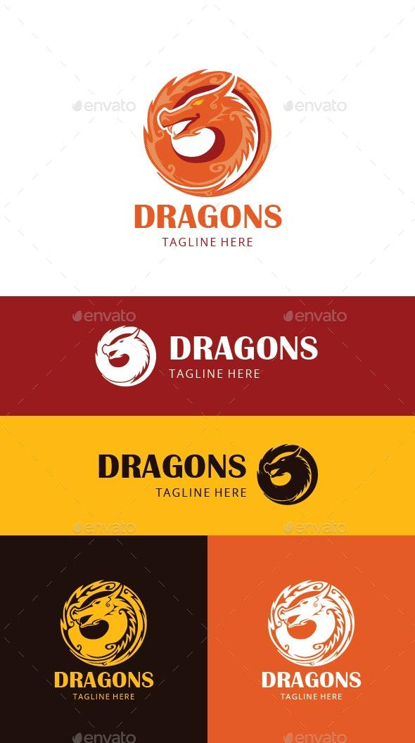 Dragons Logo Template - Animals Logo Templates