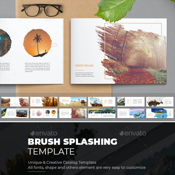 Brush Splashing Brochure