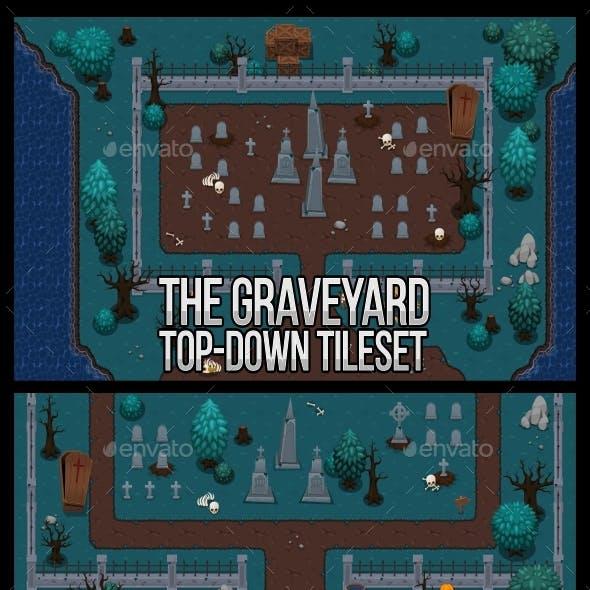 The Graveyard - Top Down Tileset